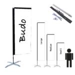 Beachflagga – H-shape inkl Kryssfot & vattenring