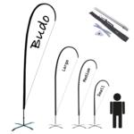 Beachflagga – Droppe Inkl kryssfot & vattenring