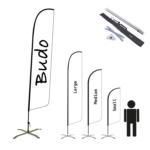 Beachflagga – Haj Inkl kryssfot & vattenring